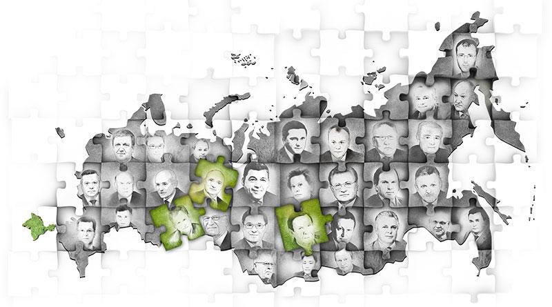 Карта губернаторы